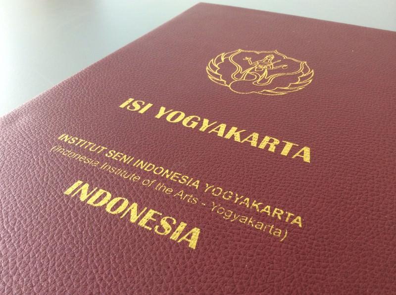 Kooperationsvertrag mit dem ISI in Yogyakarta, Indonesien