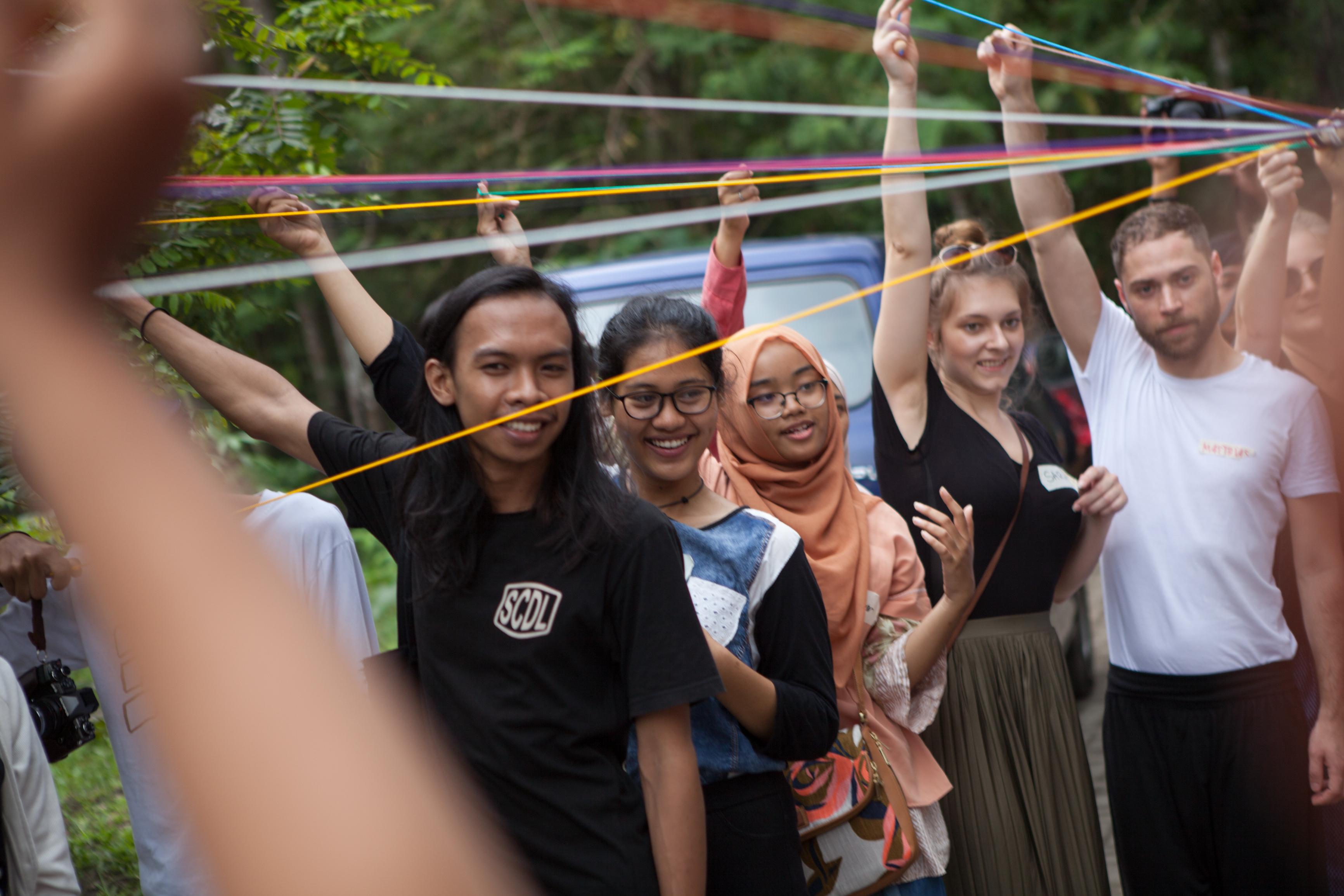 Deutsche und indonesische Masterstudenten starten ihren 14-tägigen Workshop