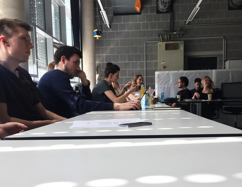 Im Master-Labor des MA-Studiengang Medien & Design